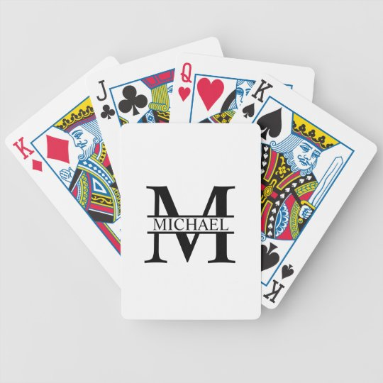 Personalised Monogram and Name Bicycle Playing Cards