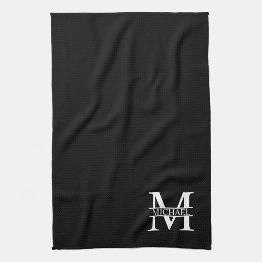 Personalised Monogram and Name Tea Towel