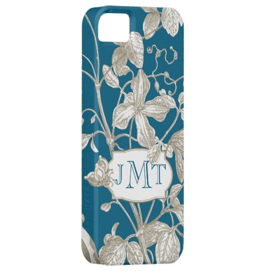 Personalised Monogram, Flowering Vine Botanical Case For The iPhone 5