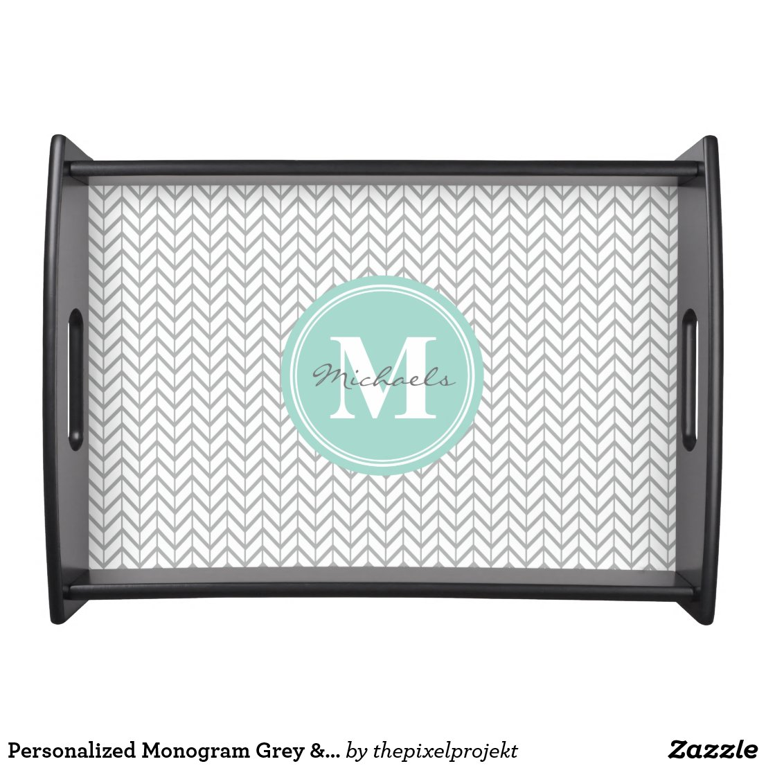 Personalised Monogram Serving Tray