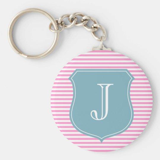 Personalised monogram keychain | initial J letter
