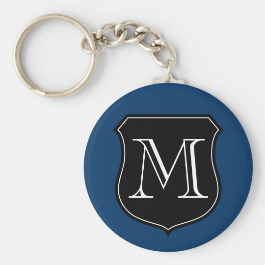 Personalised monogram keychain with letter emblem
