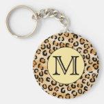 Personalised Monogram Leopard Print Pattern. Key Chains