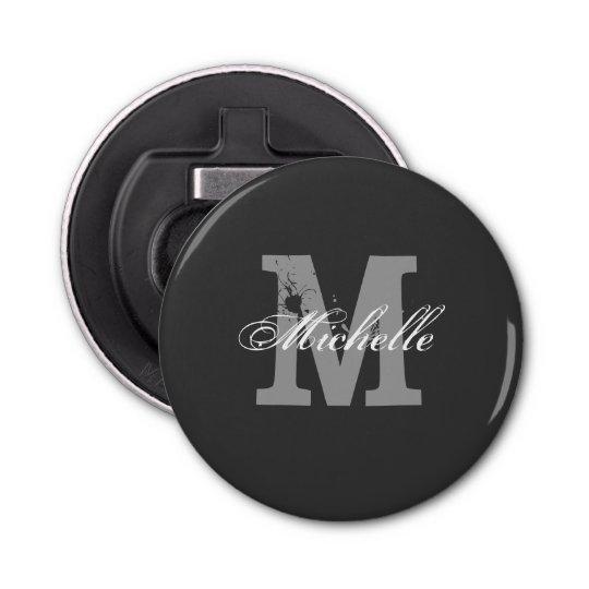 Personalised monogram magnetic beer bottle opener