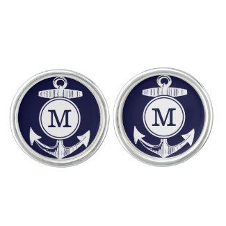 Personalised Anchor Cufflink