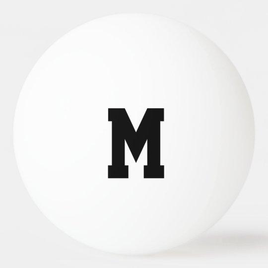 Personalised monogram ping pong balls