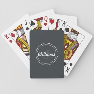 Personalised Monogram Playing Cards