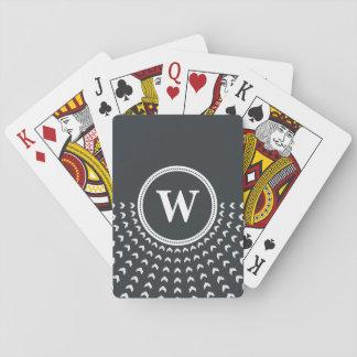 Personalised Monogram Playing Cards. Poker Deck