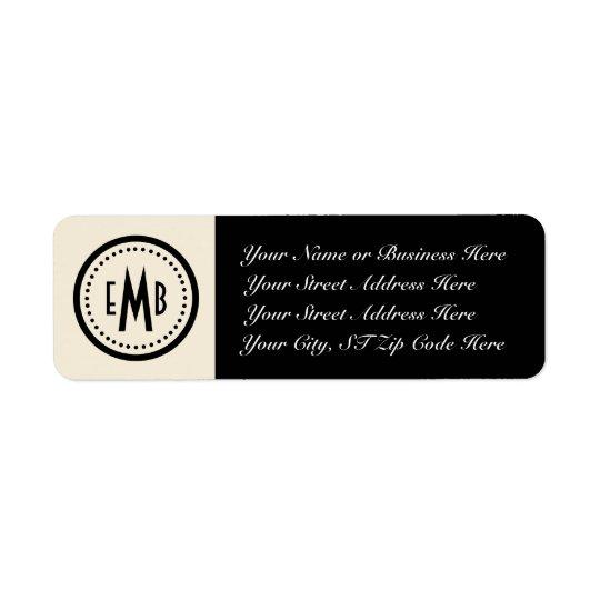 Personalised Monogram Return Address Label (E/B)