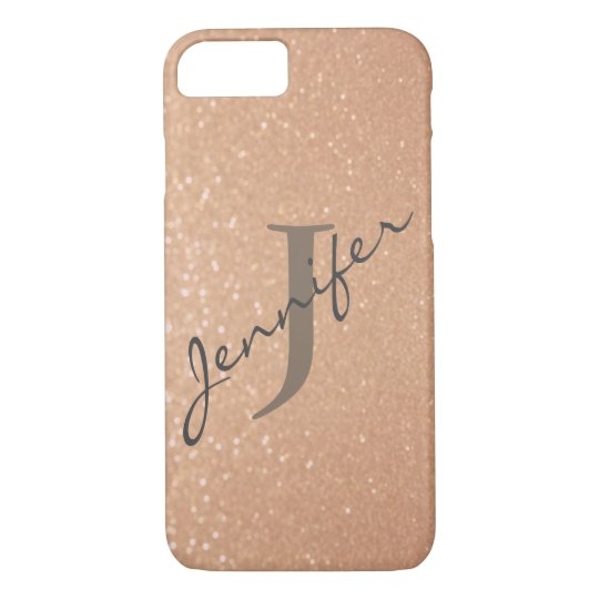 Personalised Monogram | Rose Gold iPhone 8/7 Case