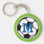 Personalised monogram soccer keychains for kids