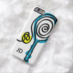 Personalised monogram tennis racket iPhone 6 case Barely There iPhone 6 Case
