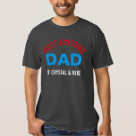 Personalised Most Awesome Dad Parent Cool T-Shirt