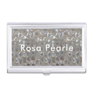 Personalised Mother of Pearl Business Card Holder