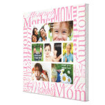 Personalised Mother's Day Photo Collage Stretched Canvas Print
