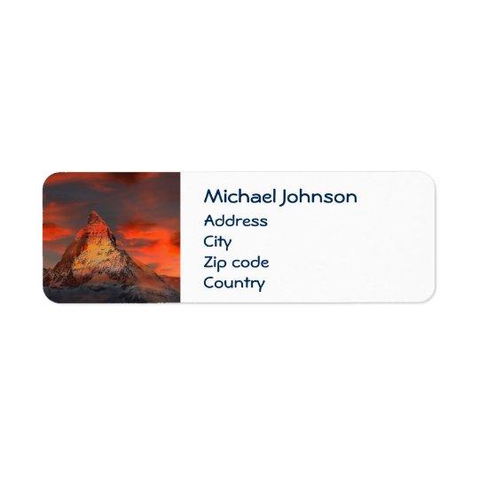 Personalised Mountain Matterhorn Zermatt Red Sky