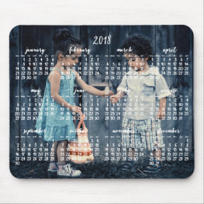 Personalised Mouse Pad Calendar 2018