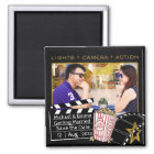 Personalised Movie Star Save the Date Magnet