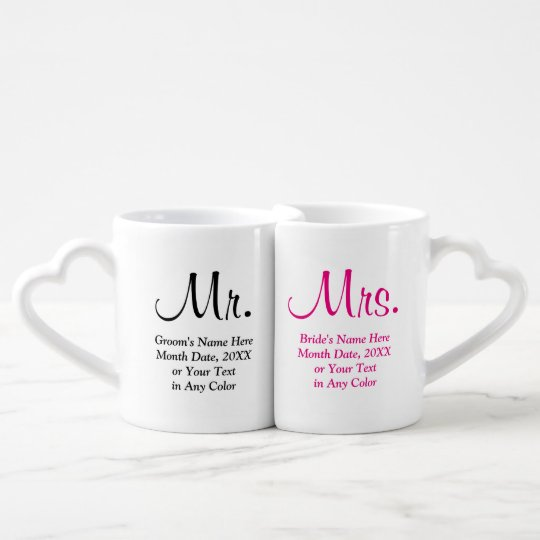 Wedding Gifts Mr And Mrs: Personalised Mr. And Mrs. Wedding Gifts Coffee Mug Set