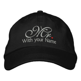 Personalised Mr. Husband Groom His Hers Newly Weds Embroidered Hats