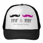 Personalised Mr & Mr Moustache Trucker Hat