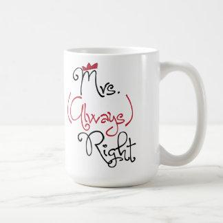 Personalised Mrs. Always Right Mug