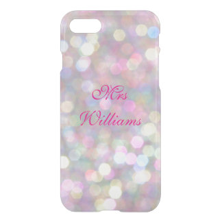 Personalised Mrs Colourful Lights iPhone 7 Case
