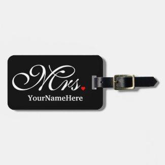 Personalised Mrs Luggage Tag