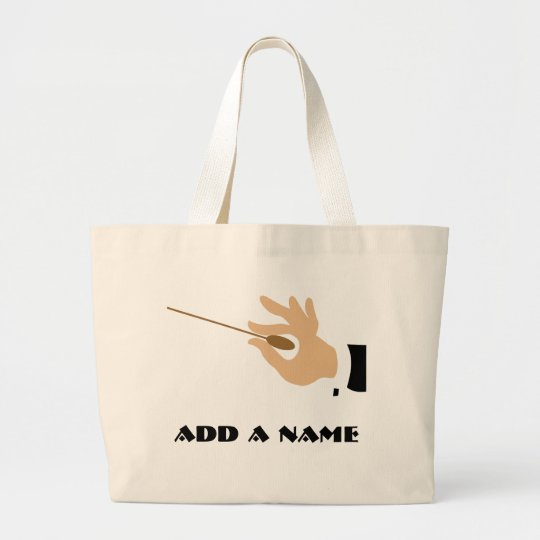 Personalised Music Conductor Tote Bag