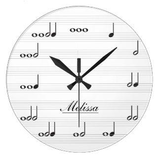 Personalised Music Notes Wall Clocks