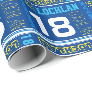 Personalised name 18th birthday sport wrap
