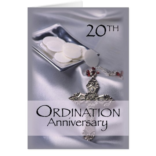 Personalised Name 20th Ordination Anniversary Card