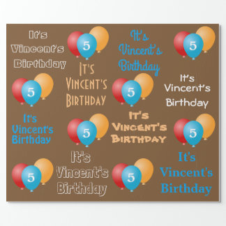 Personalised Name & Age Birthday Wrapping Paper