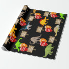 Personalised Name & Age Dinosaur Birthday Wrapping Paper