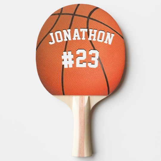 Personalised Name and Number Basketball Ping Pong Paddle
