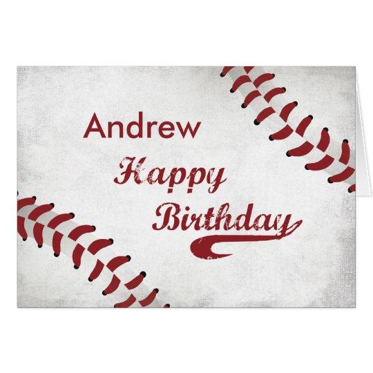 Personalised Name, Andrew Birthday Large Grunge Ba Card