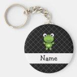 Personalised name baby frog black criss cross