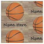 Personalised Name Basketball Orange/Brown Fabric