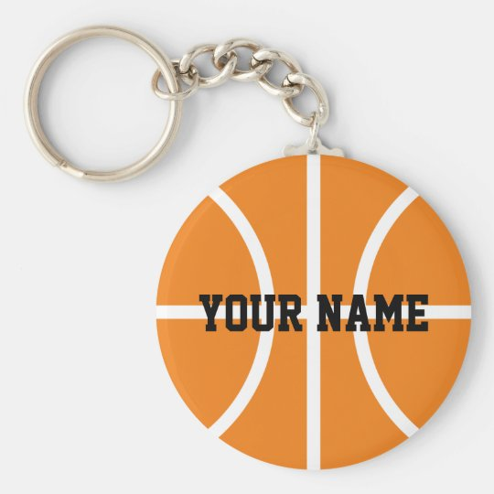 Personalised name basketball player keychains