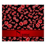 Personalised name black dice pattern poster