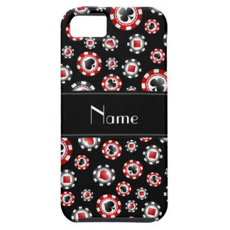 Personalised name black poker chips iPhone 5 cover