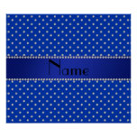 Personalised name blue diamonds poster