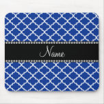 Personalised name Blue moroccan Mouse Pad