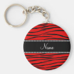 Personalised name bright red zebra stripes