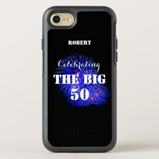 Personalised Name Celebrating THE BIG 50 - OtterBox Symmetry iPhone 8/7 Case