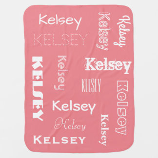 Personalised Name & Changeable Colours Baby Swaddle Blankets