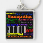 Personalised Name Colourful Collage Keychain