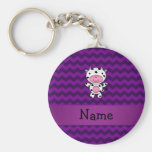 Personalised name cow purple chevrons