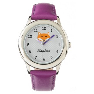 Personalised fox watch