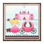Personalised Name Fairy Princess Castle Custom Canvas Print